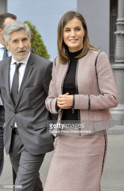 Queen Letizia attends the 30th anniversary of the incoming of the women in the Civil Guard and the 25th anniversary of the income of the first woman...