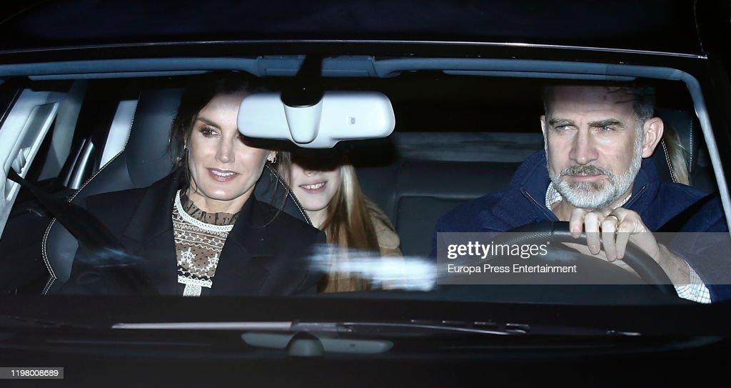 Spanish Royals Sighting In Madrid- January 06, 2020 : ニュース写真