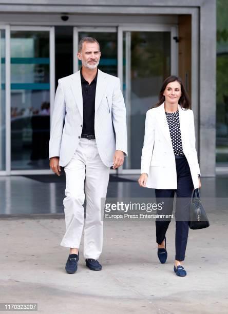 Queen Letizia of Spain and King Felipe of Spain at the hospital on August 25 2019 in Pozuelo de Alarcon Spain