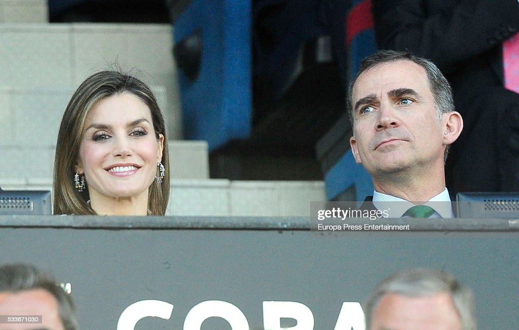 Celebrities Attend The Spanish King's Cup Football Match In Madrid : News Photo