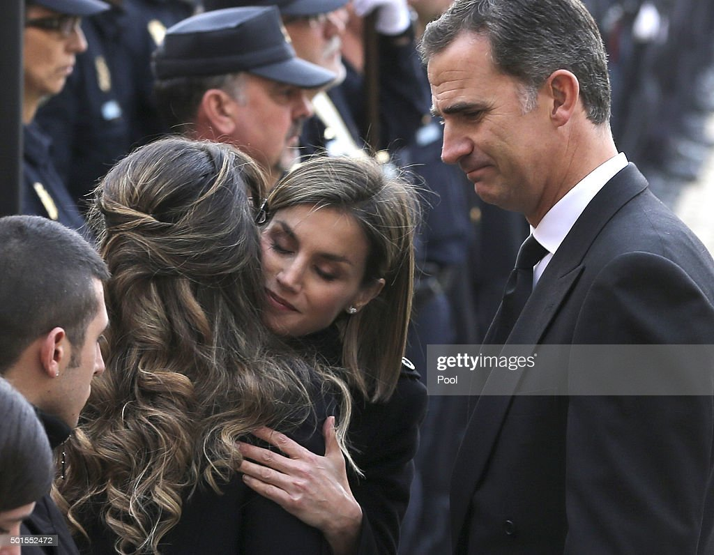 Spanish Royals Attend State Funeral Held For Two Policemen Killed In Kabul : News Photo