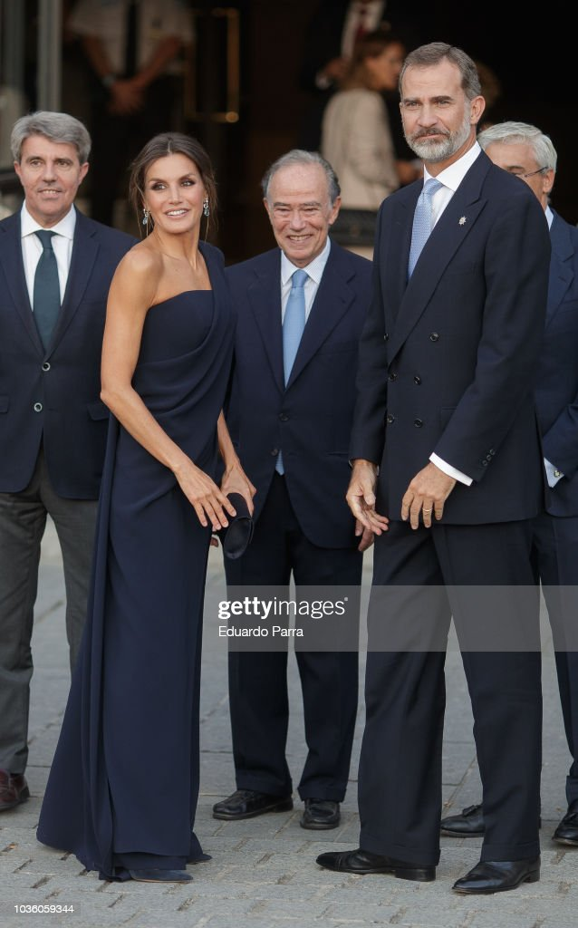 Spanish Royals Arrive At Royal Theatre