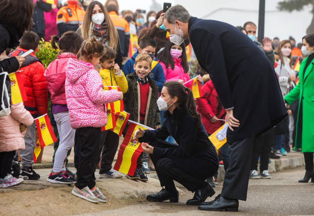 ESP: Spanish Royals Visit A Caritas Project