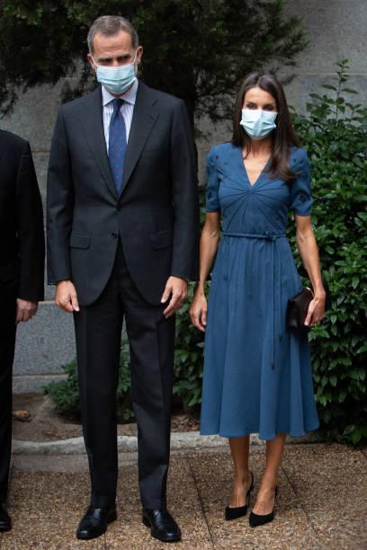 ESP: Spanish Royals Visit 'Delibes' Exhibition In Madrid