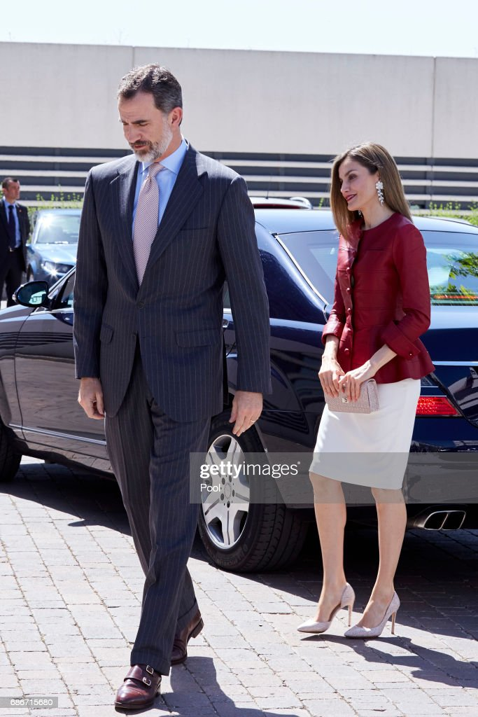 Queen Letizia of Spain and King Felipe VI of Spain attend the 40th anniversary of Reina Sofia Alzheimer Foundation on May 22, 2017 in Madrid, Spain.