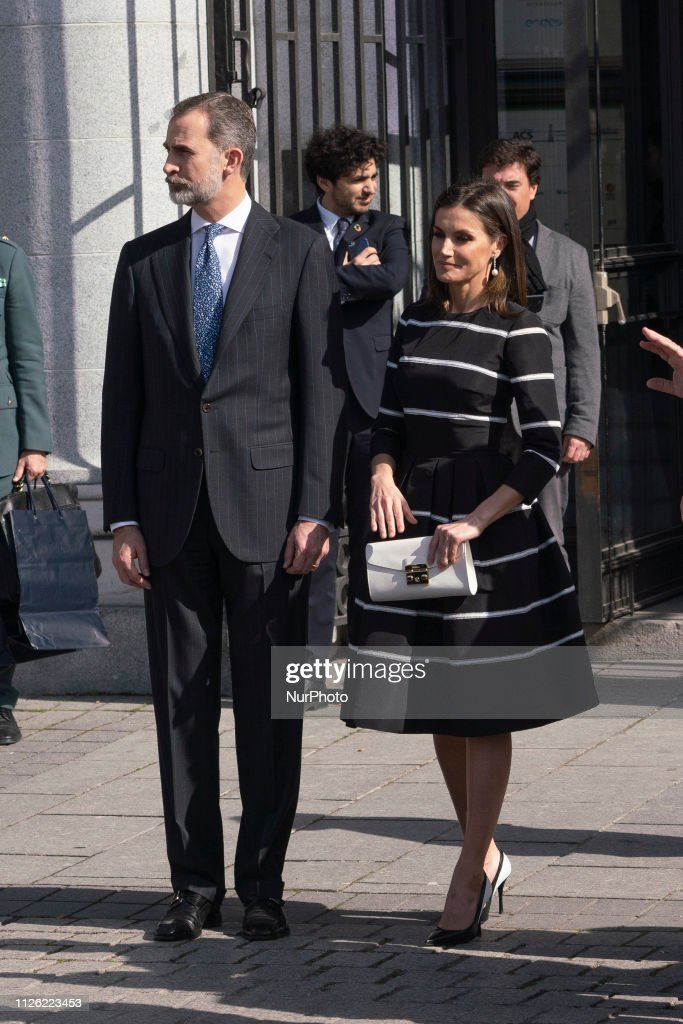 ESP: Spanish Royals Attend Closure Of 'World Law Congress' In Madrid