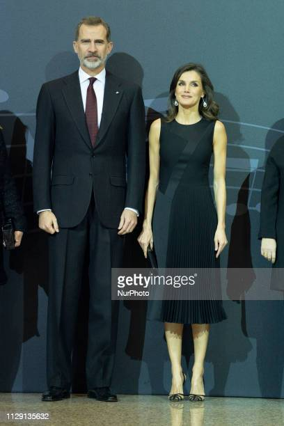 Queen Letizia of Spain and King Felipe VI of Spain attend the 'In Memoriam' concert at the National Auditorium on March 07 2019 in Madrid Spain