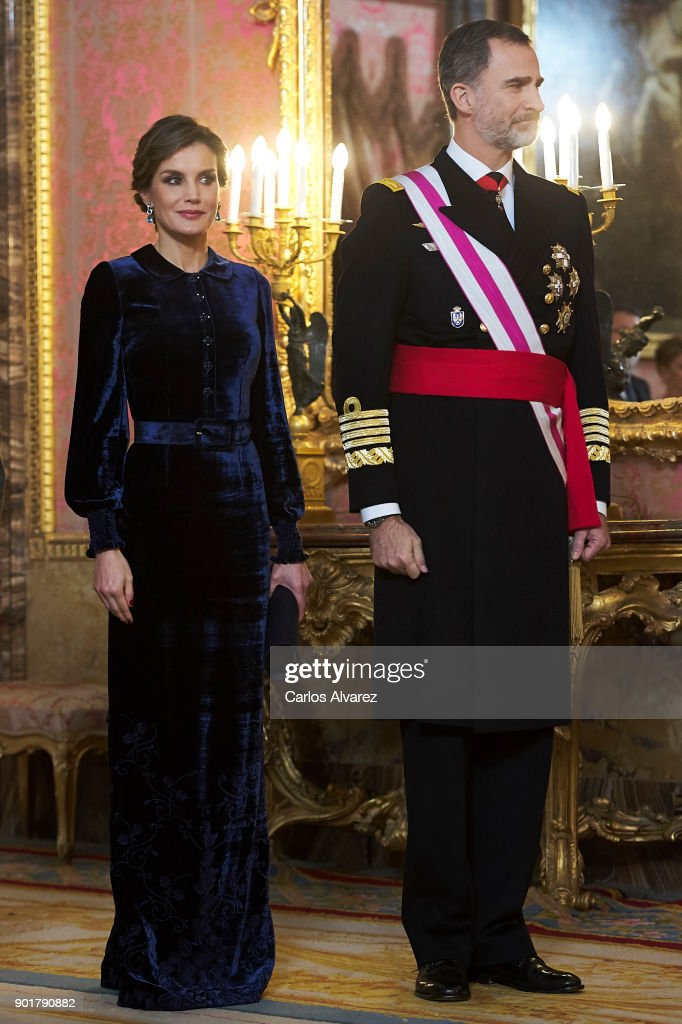 Spanish Royals Celebrate New Year's Military Parade 2018 : News Photo