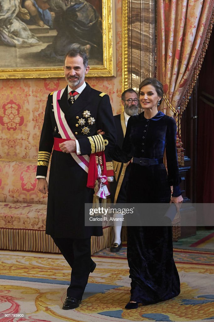 Spanish Royals Celebrate New Year's Military Parade 2018