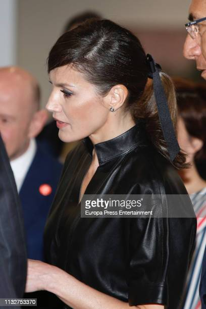 Queen Letizia of Spain and Martin Vizcarra inaugurate ARCO Art Fair 2019 at Ifema on February 28 2019 in Madrid Spain