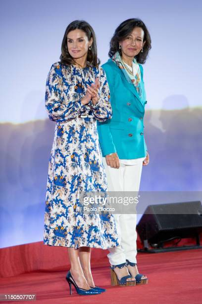 Queen Letizia of Spain and President of the Spanish bank Banco Santander Ana Patricia Botin attend 'Proyectos Sociales De Banco Santander' awards on...