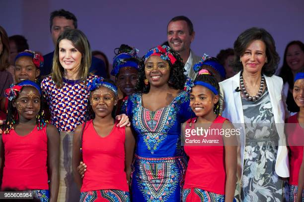 Queen Letizia of Spain and President of the Spanish bank Banco Santander Ana Patricia Botin attend 10th 'Proyectos Sociales Banco de Santander'...