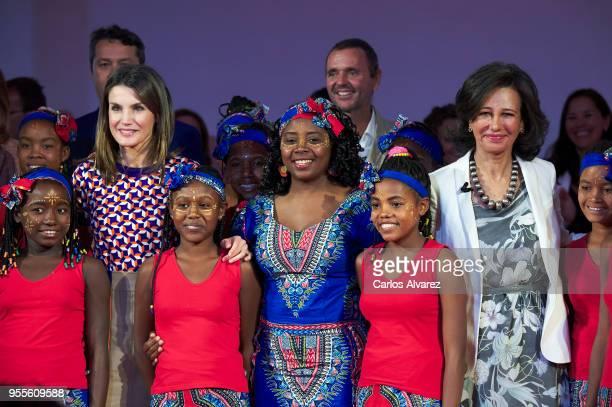 Queen Letizia of Spain and President of the Spanish bank Banco Santander Ana Patricia Botin attend 10th 'Proyectos Sociales Banco de Santander'...