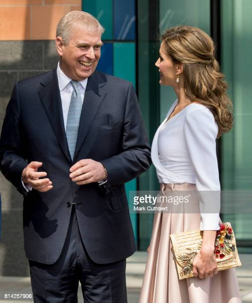 Queen Letizia of Spain and Prince Andrew Duke of York visit the Francis Crick Institute during a State visit by the King and Queen of Spain on July...