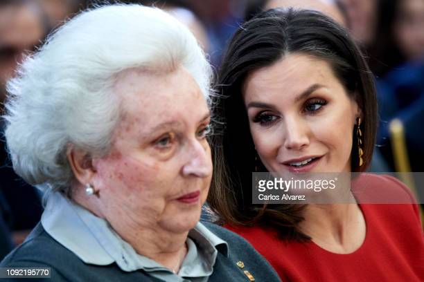 Queen Letizia of Spain and Princess Pilar de Borbon attend the National Sports Awards 2017 at the El Pardo Palace on January 10 2019 in Madrid Spain