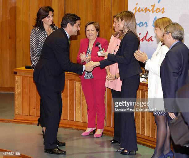 Queen Letizia of Spain and Spanish Minister of Health Social Services and Equality Ana Mato attend the 25th Anniversary of the Spanish Transplant...