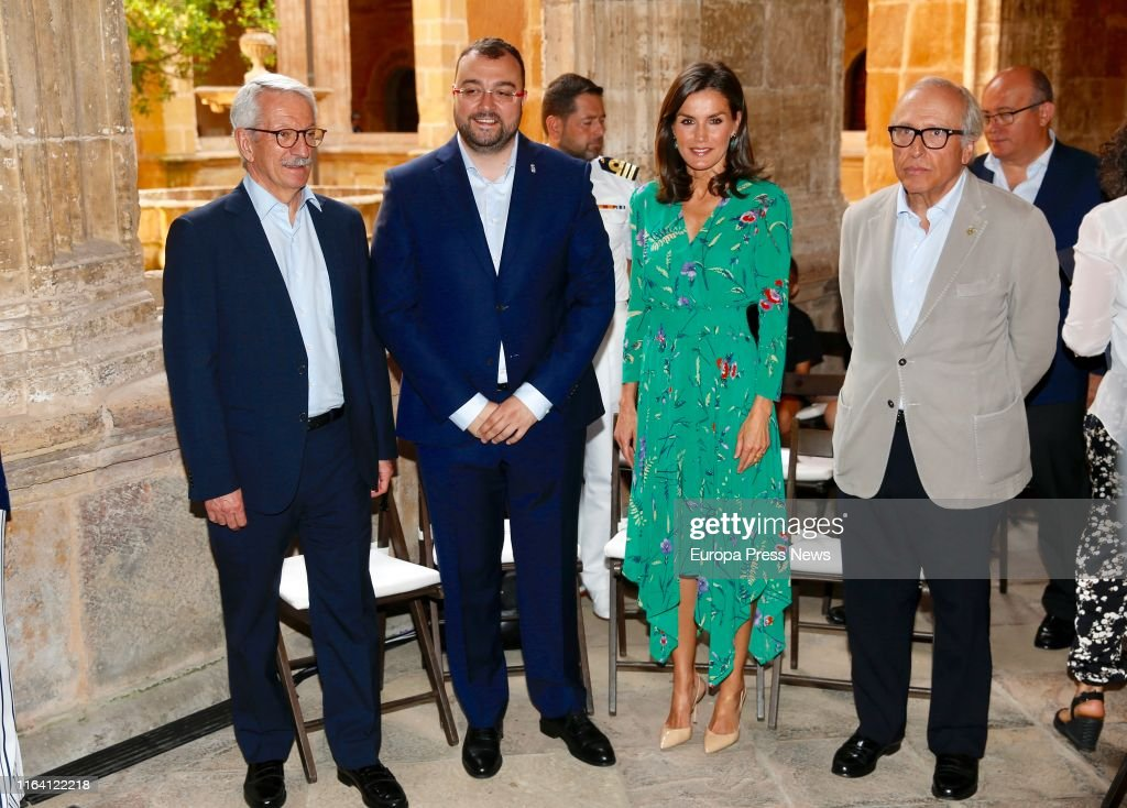 Queen Letizia Of Spain Attends Musical School Summer Courses Opening : News Photo