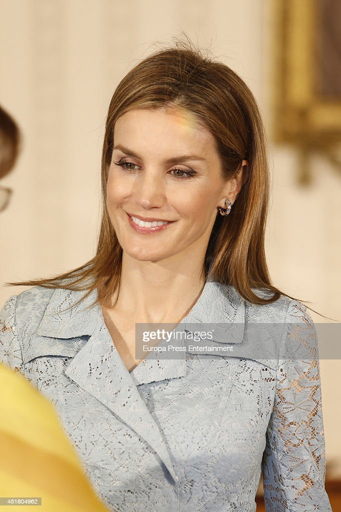 Spanish Royals On Official Visit Portugal - July 07, 2014 : Nieuwsfoto's