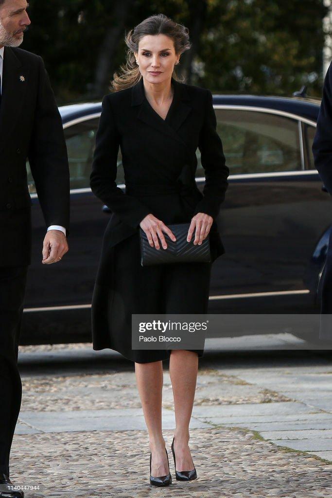 Spanish Royals Attend Memoriam Funeral For Jose Pedro Perez-Llorca Rodrigo : News Photo