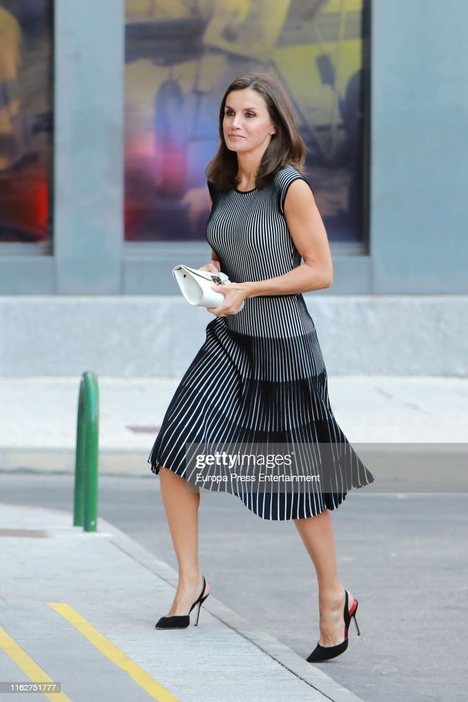 Queen Letizia Arrives At A Meeting With 'Fundeu BBVA' : News Photo