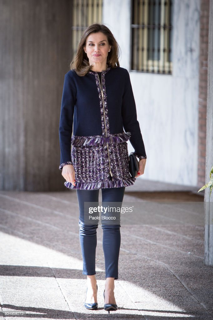 Queen Letizia of Spain Arrives At Integra Foundation Headquarters