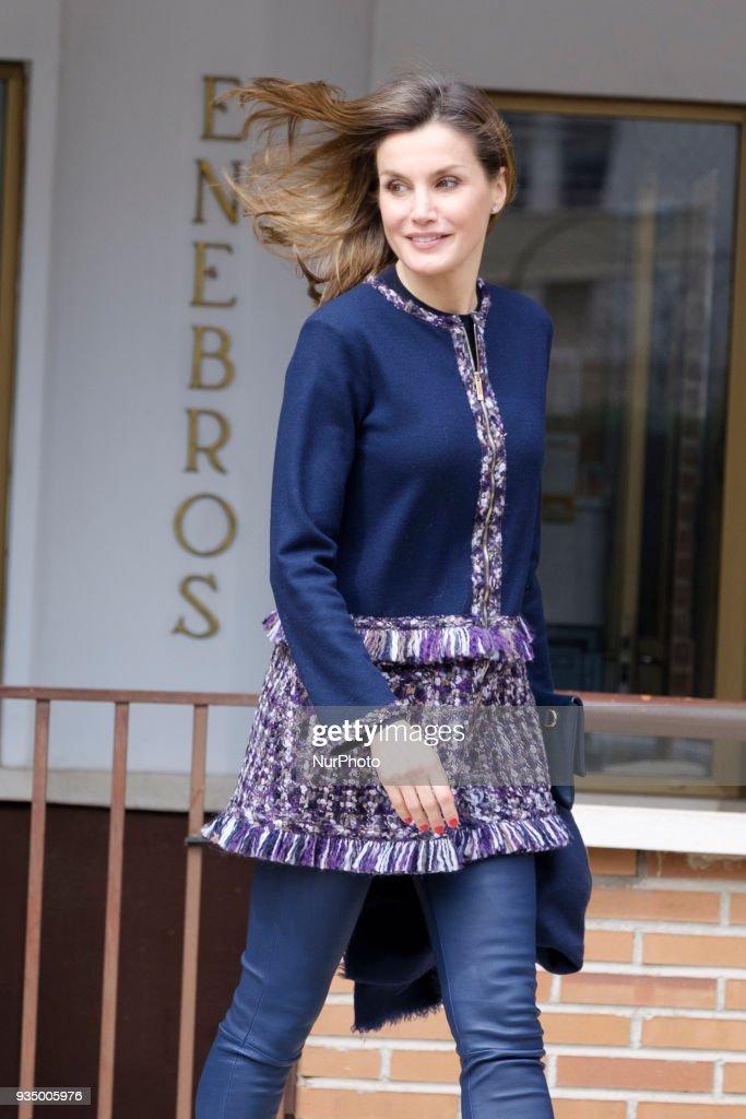 Queen Letizia of Spain Arrives At Integra Foundation Headquarters