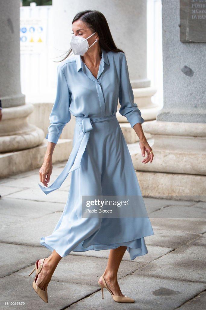 Queen Letizia Of Spain Arrives At El Prado Museum : News Photo