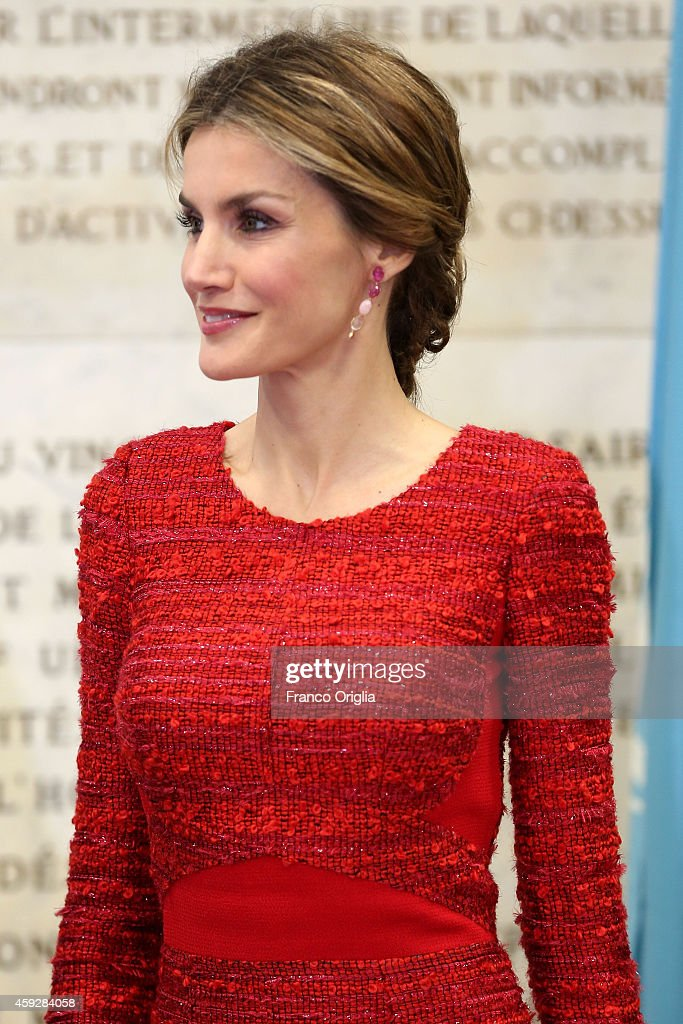 Spanish Royals At FAO In Rome : News Photo