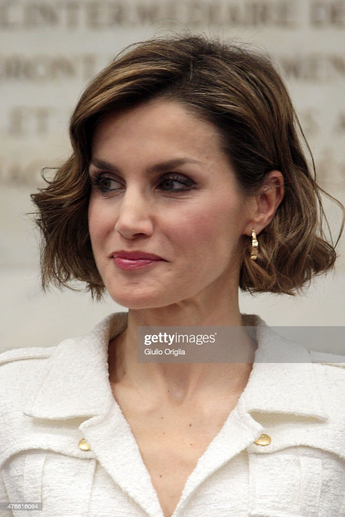 Queen Letizia Of Spain Named As FAO Special Ambassador for Nutrition : News Photo