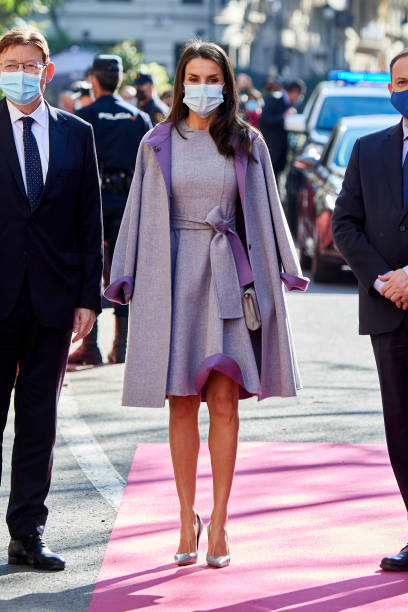ESP: Queen Letizia Of Spain Arrives At The 'Jaume I' Awards In Valencia