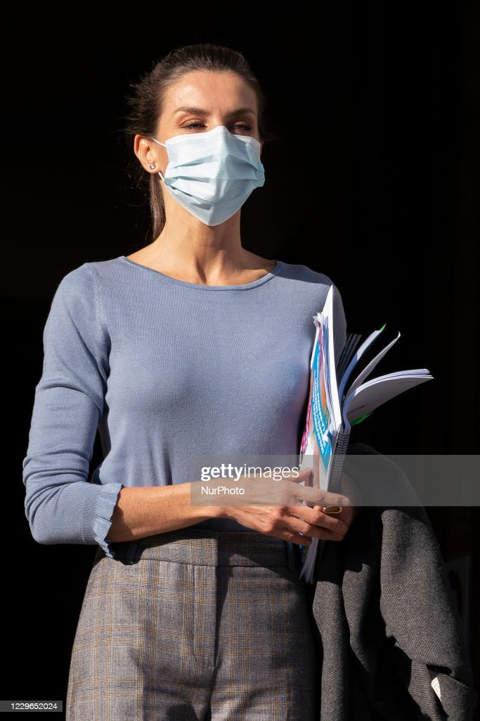 Queen Letizia Of Spain Arrives To A Meeting With UNICEF Spain : News Photo