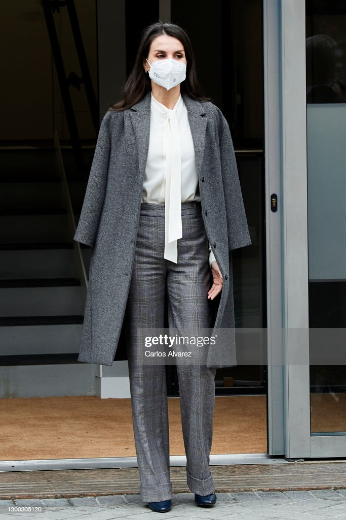 Queen Letizia Arrives At 'Forum Against Cancer' In Madrid : News Photo