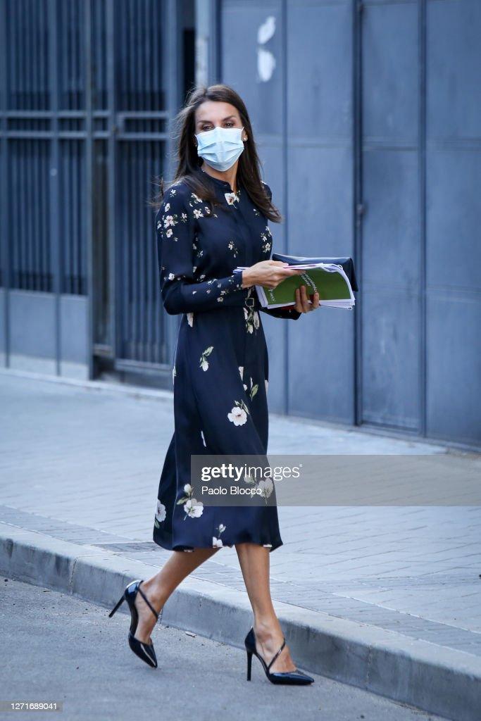 Queen Letizia Arrives At AECC Headquarters : News Photo