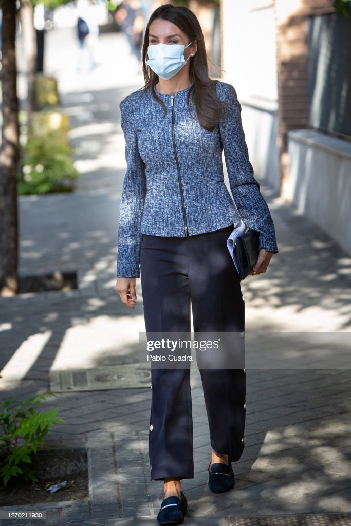 Queen Letizia Of Spain Visits FEDER Headquarters : News Photo