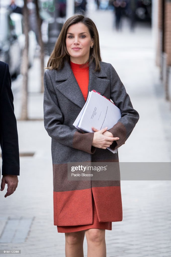 Queen Letizia of Spain Arrives At FEDER Meeting