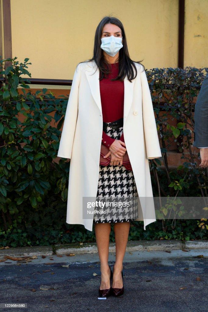 Queen Letizia Of Spain Arrives At The Headquarters Of The Royal Board For Disabilities : News Photo