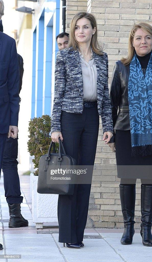 Queen Letizia of Spain Attends a Meeting With UNICEF Spain : News Photo