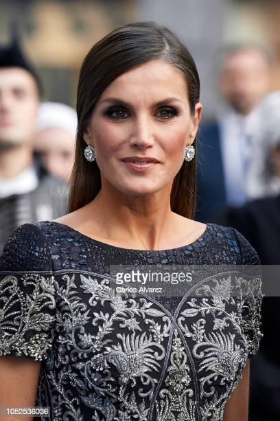 Queen Letizia of Spain arrives to the 2018 Princess of Asturias Awards Ceremony at the Campoamor Teather on October 19 2018 in Oviedo Spain