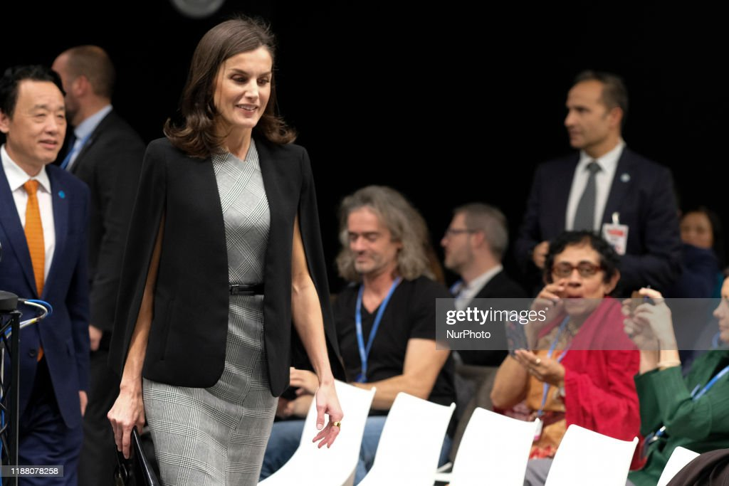 Queen Letizia Of Spain At COP25 : News Photo