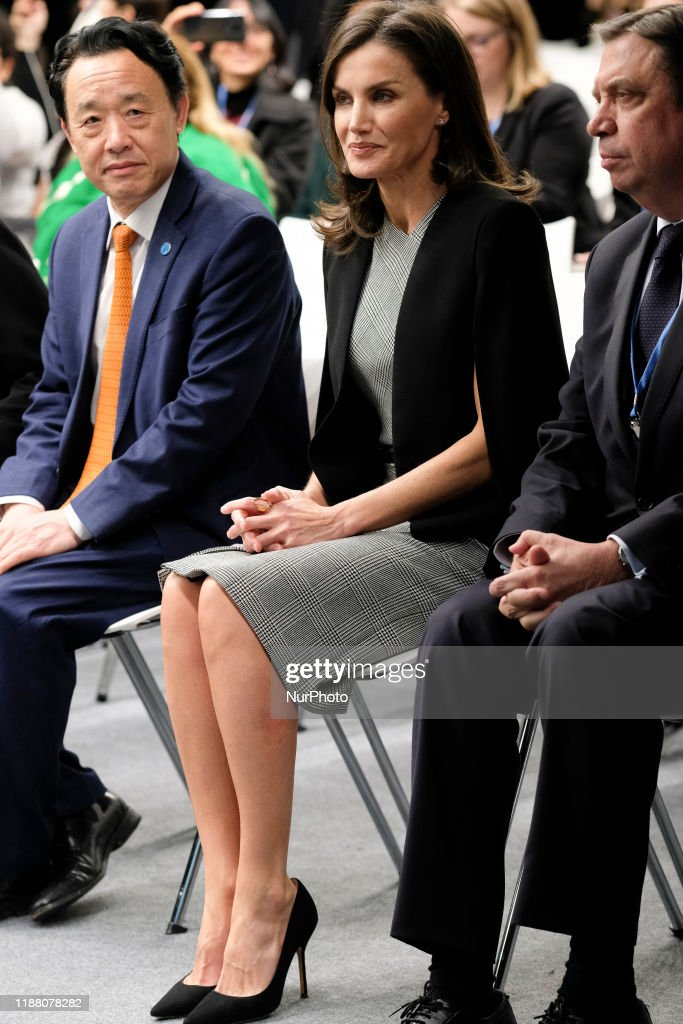 Queen Letizia Of Spain At COP25 : Nieuwsfoto's