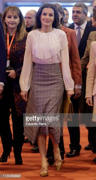 Queen Letizia of Spain attend FITUR fair at Ifema on January 23 2019 in Madrid Spain