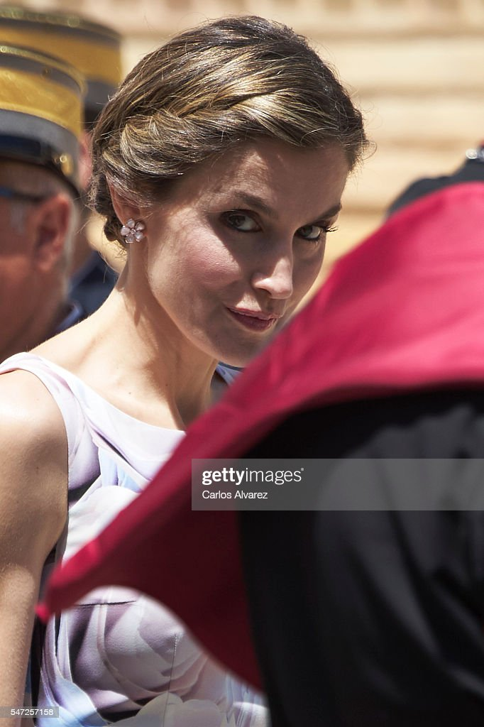 Spanish Royals Attend a Military Event in Zaragoza