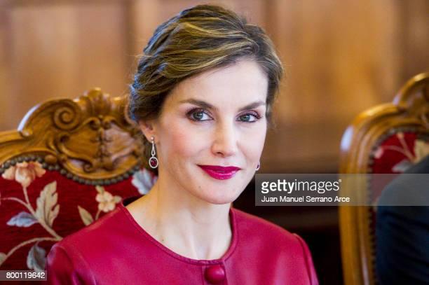 Queen Letizia of Spain attend the Join 'Coworking santander' Programme on June 23 2017 in Santander Spain