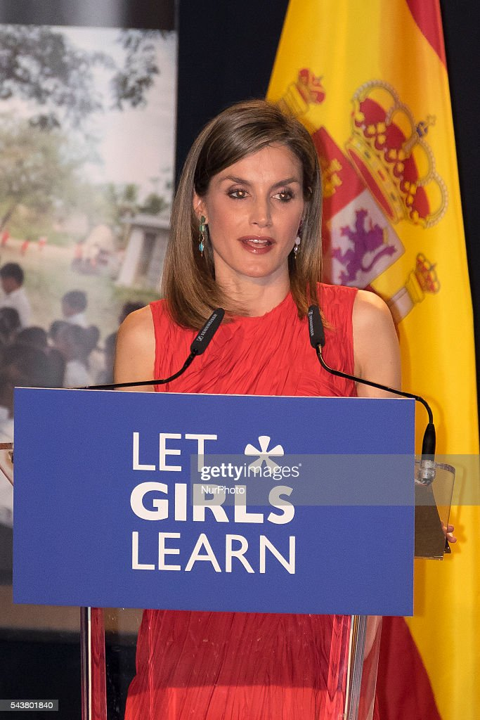 Michelle Obama and Queen Letizia of Spain Attend 'Lets Girls Learn' : News Photo