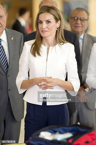 Queen Letizia of Spain attends 150th Aniversary of Red Cross Foundation and World Red Cross and Red Crescent Day at Palacio de Congresos on July 4...