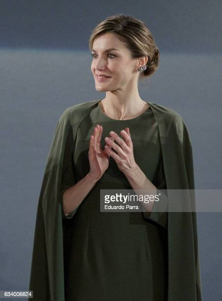 Queen Letizia of Spain attends 2016 Innovation and Design Awards on February 6 2017 in Alcala de Henares Spain