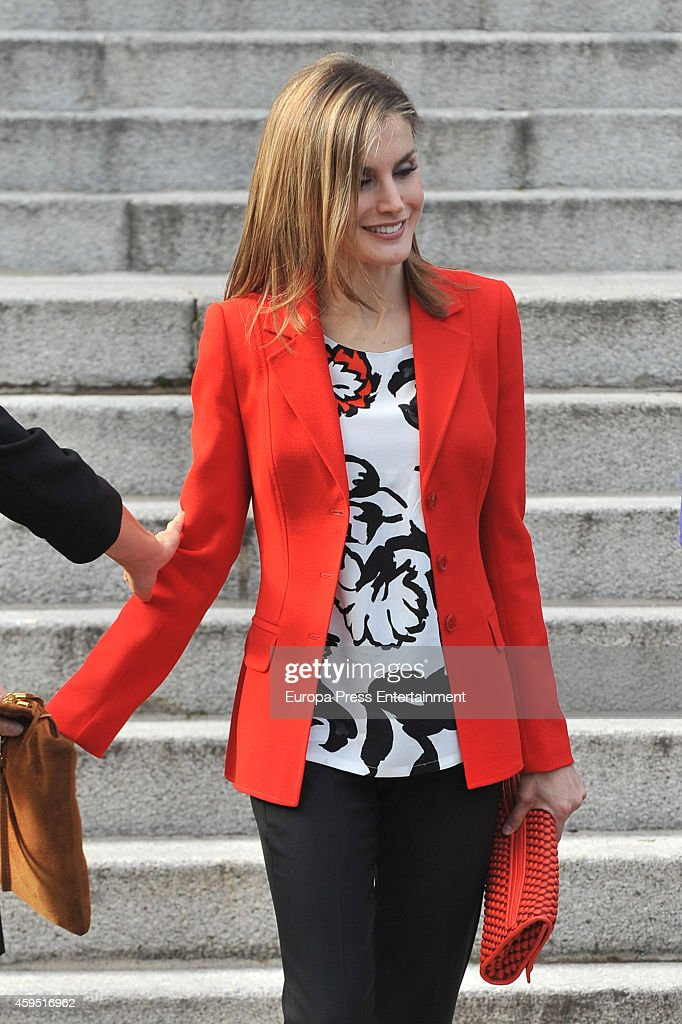 Queen Letizia of Spain attends 75th aniversary of CSIC at CSIC headquarters on November 24, 2014 in Madrid, Spain.