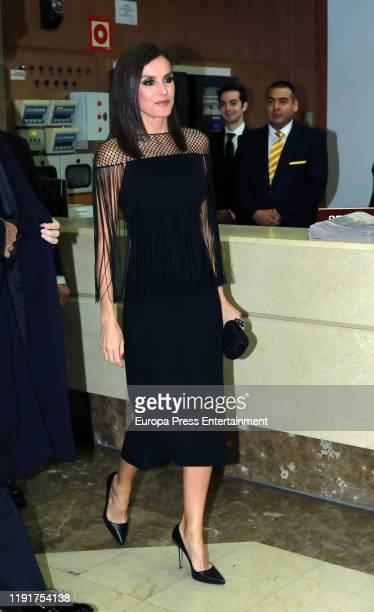 Queen Letizia of Spain attends 98th annual ABC International Journalism Awards at Casa de ABC on December 03 2019 in Madrid Spain