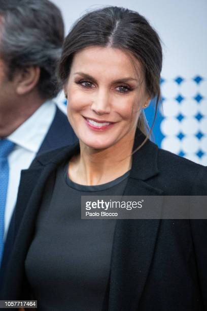 Queen Letizia of Spain attends a commemorative event for the 20th Anniversary of 'La Razon' newspaper on November 5 2018 in Madrid Spain