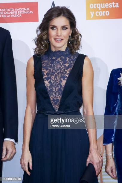 Queen Letizia of Spain attends a concert to commemorate the 40th anniversary of the Spanish Constitution at the 'Auditorio Nacional' on December 5...